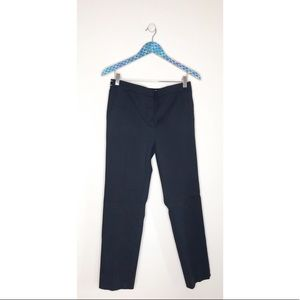Zara Mid Rise Straight Leg Navy Stretch Trousers
